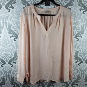 Loft long sleeve chiffon blouse